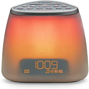 iHome Zenergy Dream Mini iZBT7 Bluetooth Bedside Sleep Therapy Machine, Anti-Anxiety, Stress Relief, Sound Therapy, Light Therapy, LED Color Blending, Bluetooth Speaker and Sleep Timer