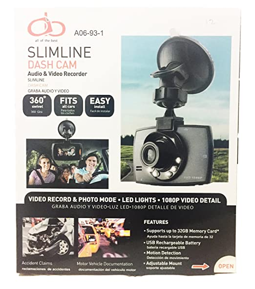 Amazon.com: AOB Dash Camera Car Dvr Recorder Cam Hd Video 1080p G Sensor Vehicle 2 Dual Lens Night Vision Full 7 4: Car Electronics