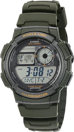 Casio AE-1000W-3AV - Reloj (Reloj de pulsera, Resina, Negro, Resina, Negro, Resina)
