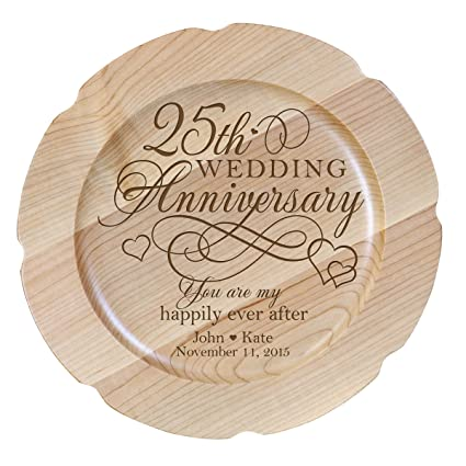 Amazon Personalized 25th Wedding Anniversary Plate Gift For