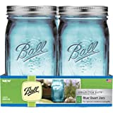 Ball Elite Collection Pint - Jars, Azul, WM Quart, paquete de 4