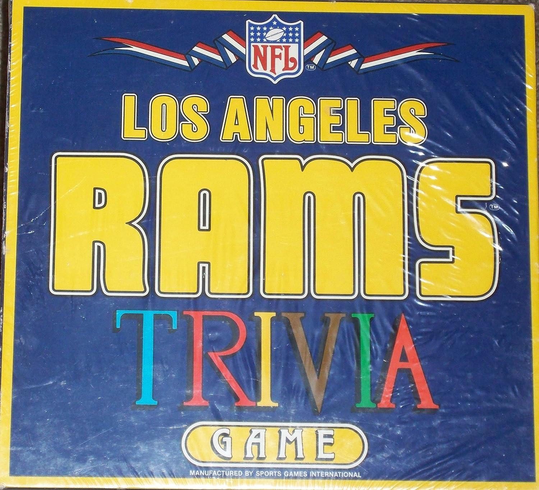 Amazoncom NFL Los Angeles RAMS Trivia Game Toys  Games - Los angeles posters vintage