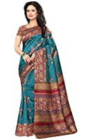 Vsaree Women's Georgette Saree With Blouse Piece (Vs-101_Green)