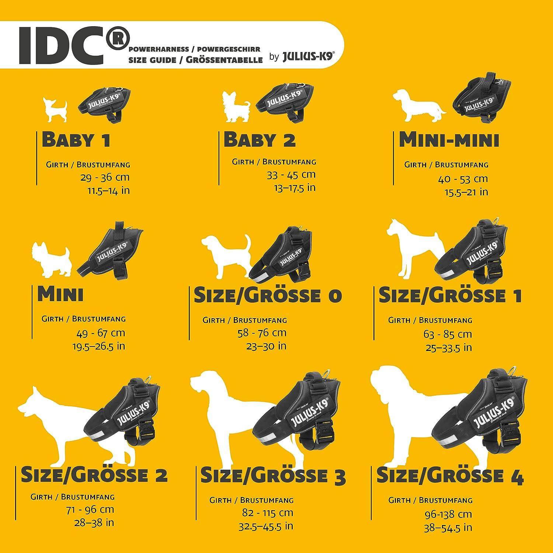 Schwarz 16IDC-P Trixie Julius-K9 IDC-Powergeschirr Black