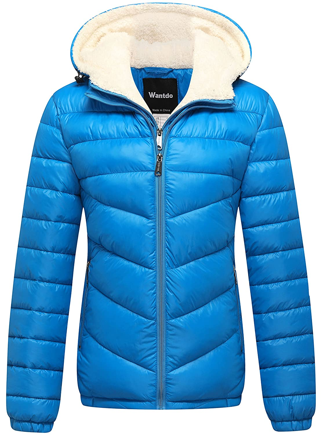 Wantdo Women's Winter Hooded Thick Puffer Jacket