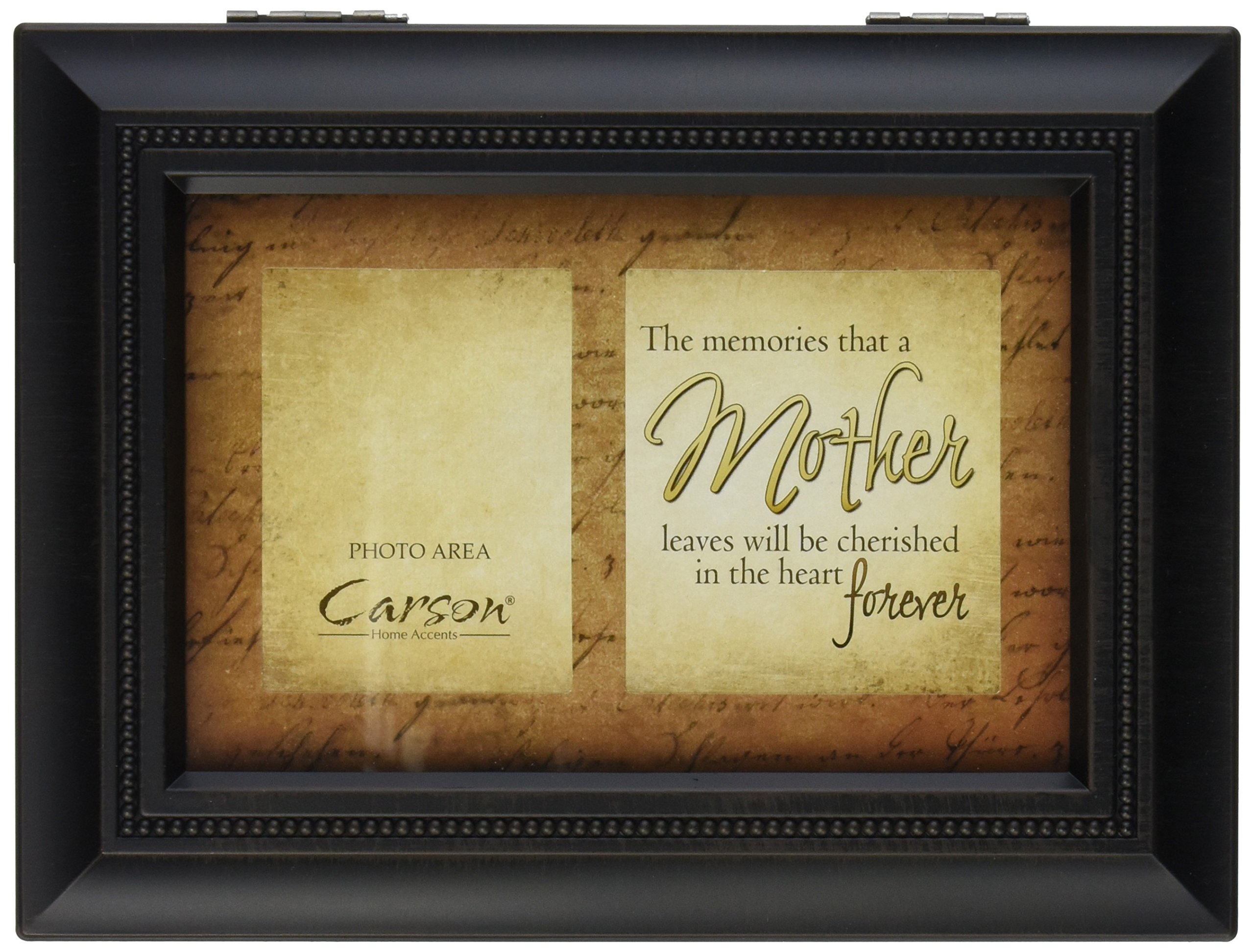 Carson Home Accents 17947 Mother Memories Bereavement Music Box, 8-Inch by 6-Inch by 2-3/4-Inch
