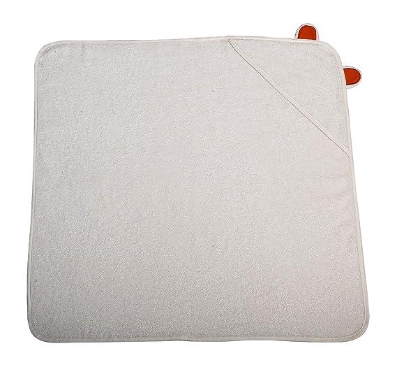 Toalla de baño para bebé, 70 x 70 cm, con capucha, color blanco: Amazon.es: Bebé