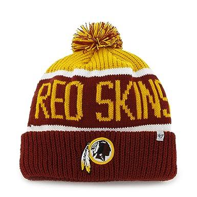 32cfa24b NFL Washington Redskins Cuffed Knit Hat With Pom Pom by '47 Brand