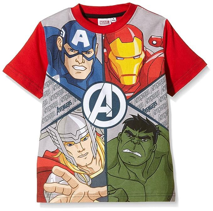 Avengers Camiseta Manga Corta Star Wars, Niños, Rojo T08 años: Amazon.es: Ropa y accesorios