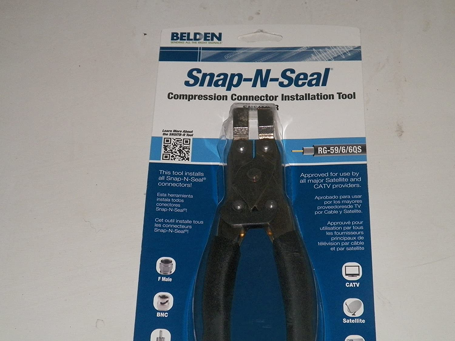 Snap-N-Seal Compression Tool Item#528957 Model#SNSITB-R UPC#845671003529 by Belden - - Amazon.com