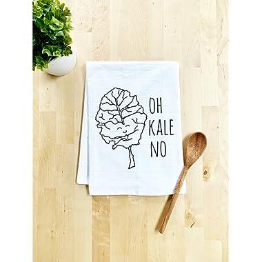 Funny Dishcloth/Tea Towel ~ Oh Kale No ~ Vegetable Pun Kitchen Cloth