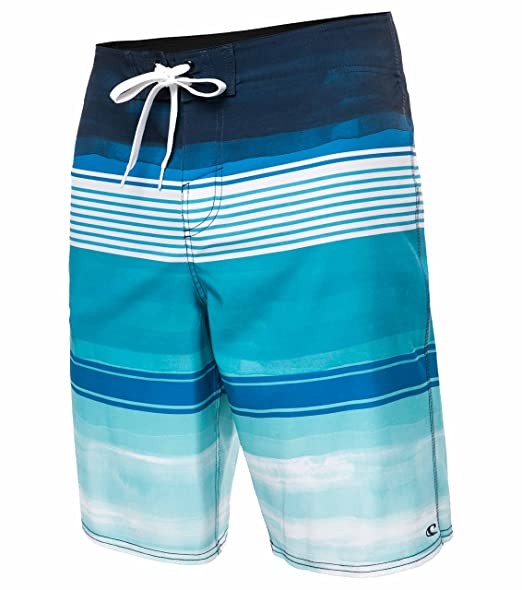 3efa41a998 O'Neill Men's Brisbane Lennox Board Shorts - Brisbane White Blue, Size 30