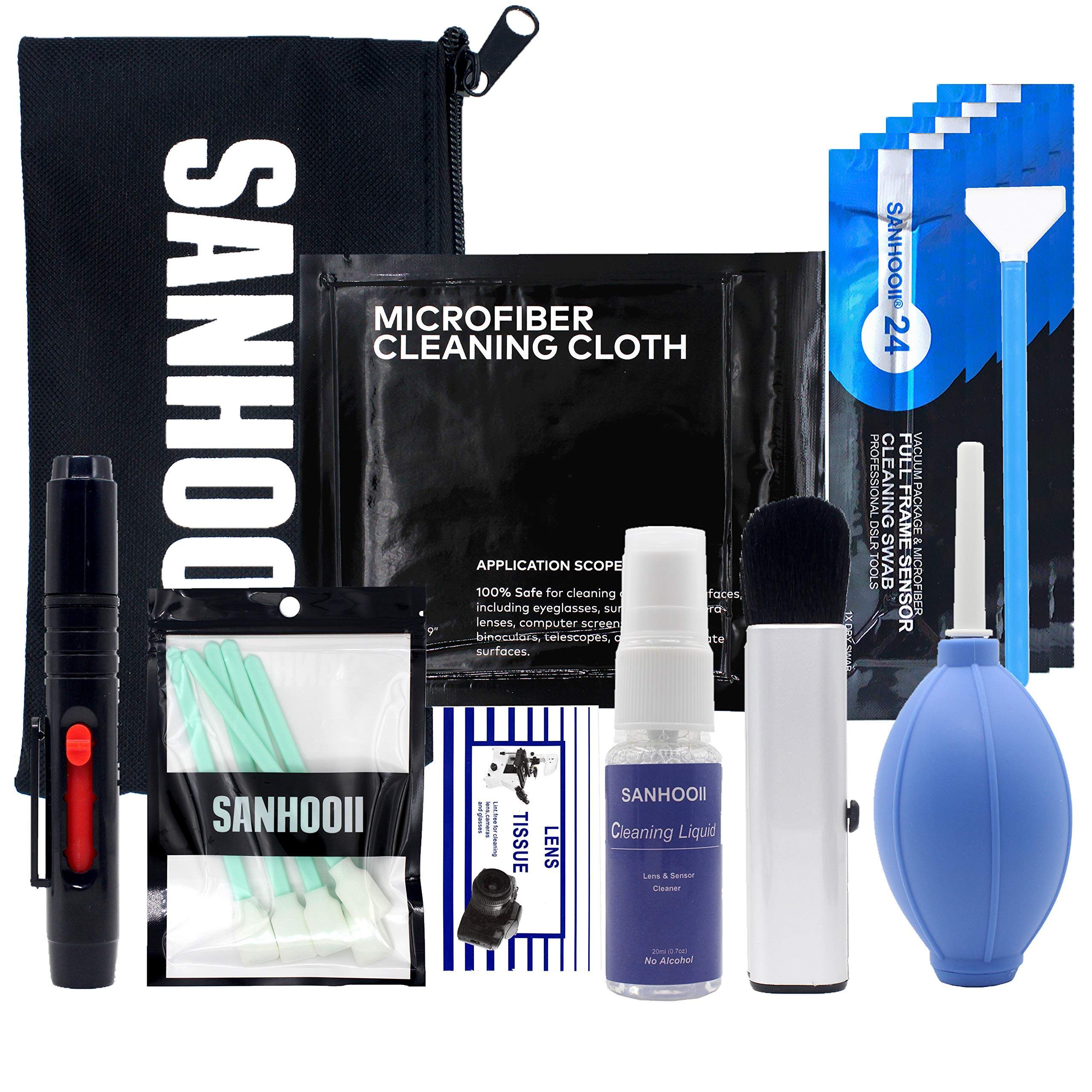 SANHOOII Camera Cleaning kit for DSLR or SLR Cameras Lens Cleaning and Full Frame Sensor Cleaning by SANHOOII