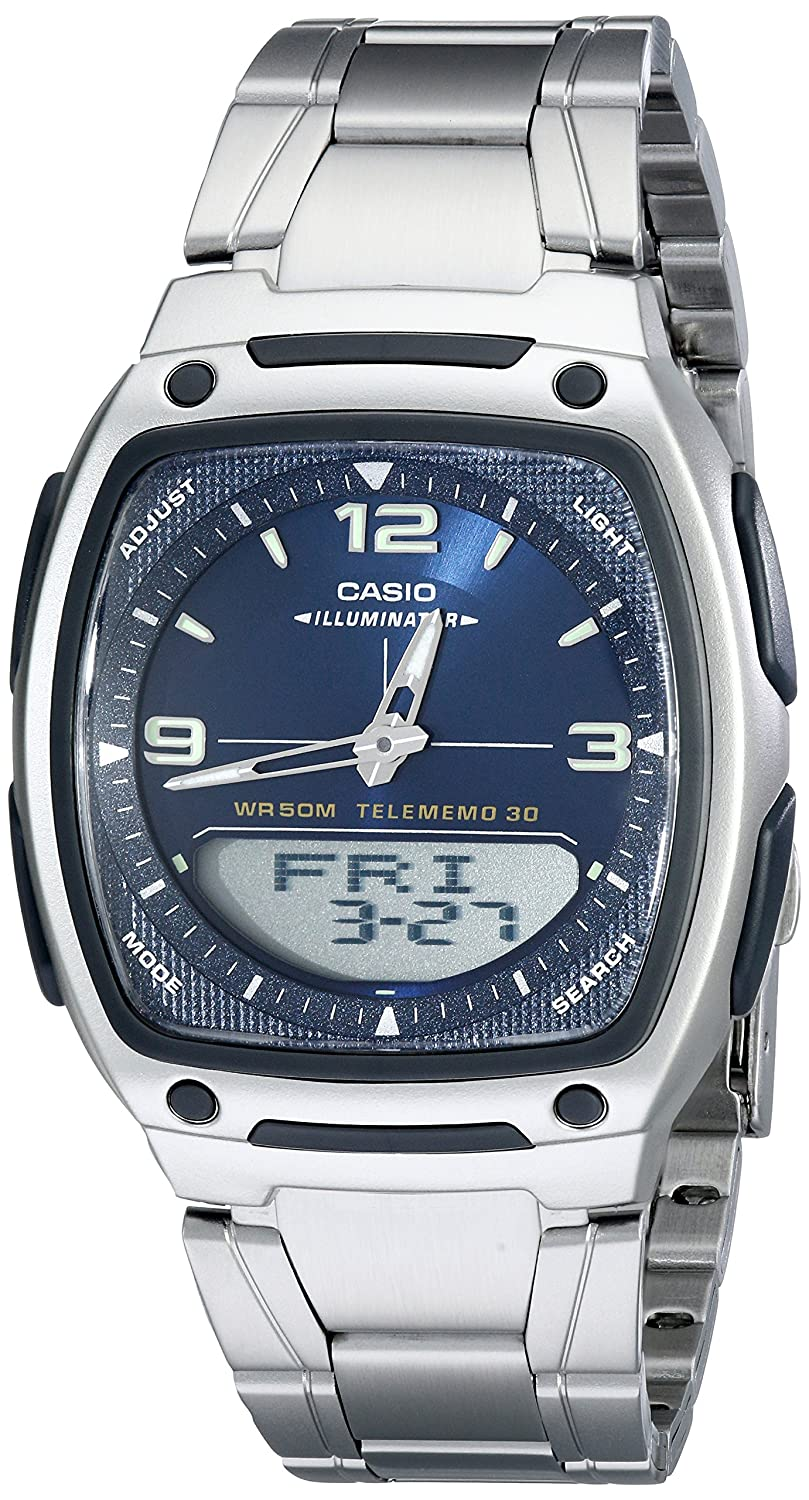 Casio Mens Aw81d 2av Ana Digi Stainless Steel Watch Edifice Efr546bkg1av Watches