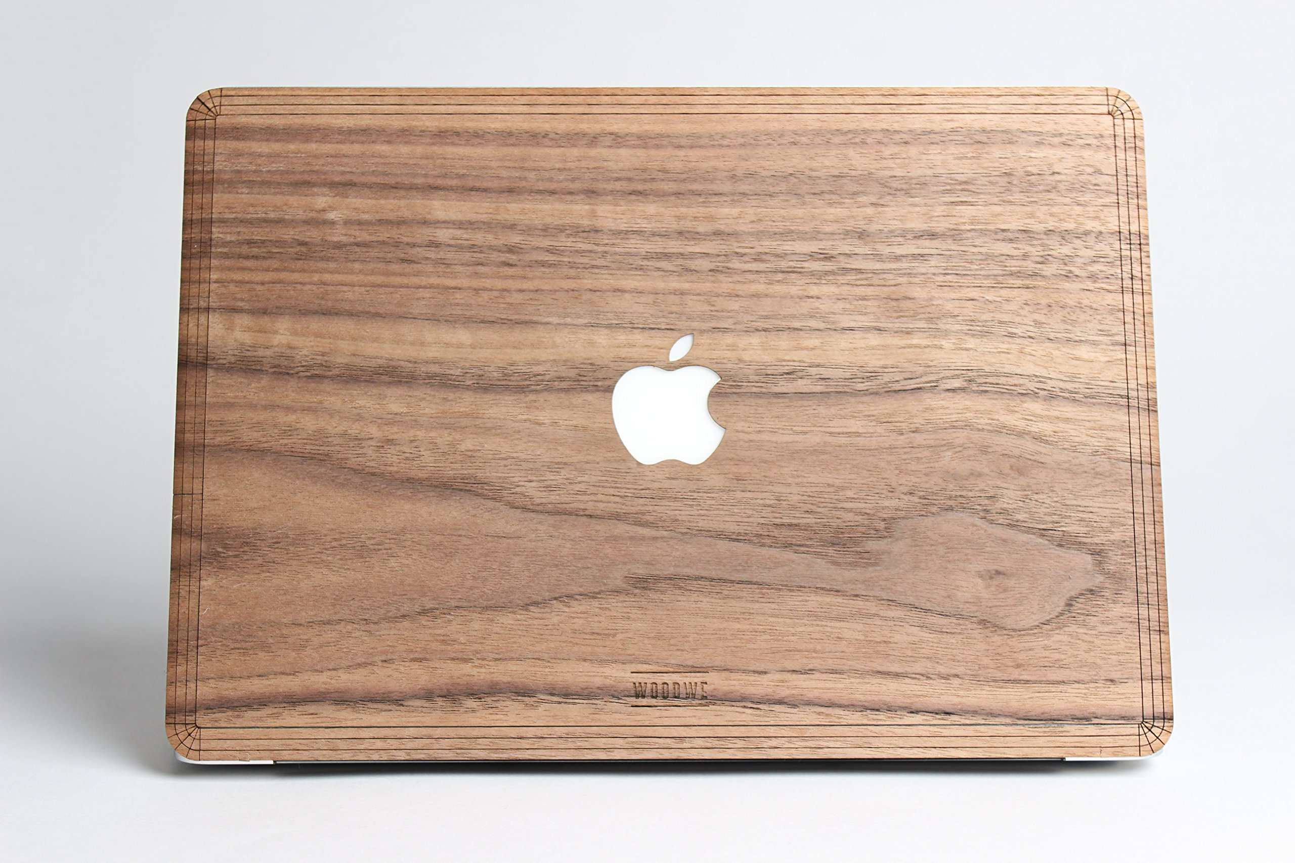 WOODWE Real Wood MacBook Skin Sticker Decal for Mac Pro 13 inch with/Without Touch Bar   Model: A1706/A1708/A1989; Late 2016 – Mid 2017   Natural Walnut Wood   TOP&Bottom Cover