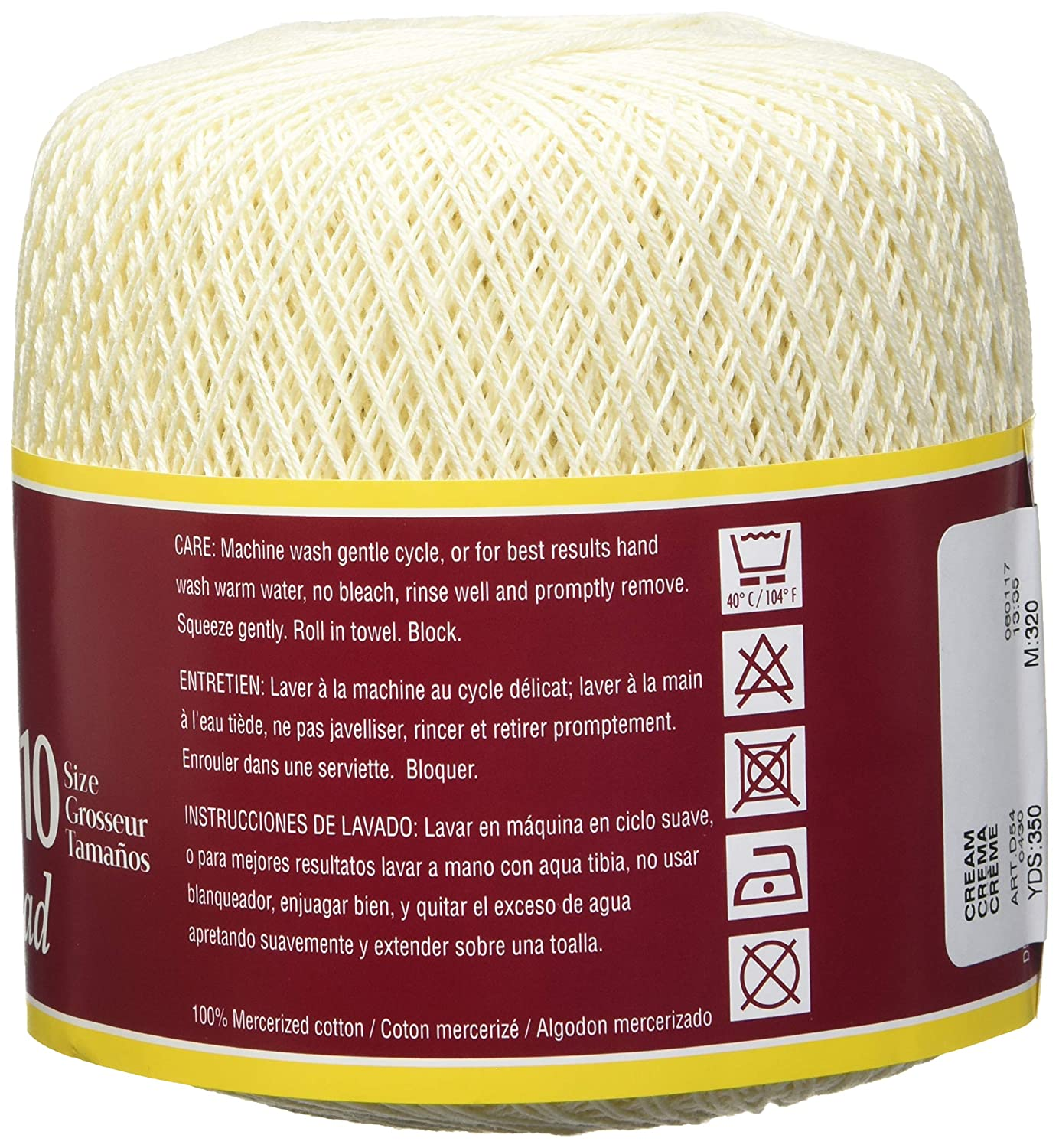 Amazon.com: Coats Crochet South Maid Crochet, Cotton Thread Size 10, Cream: Arts, Crafts & Sewing