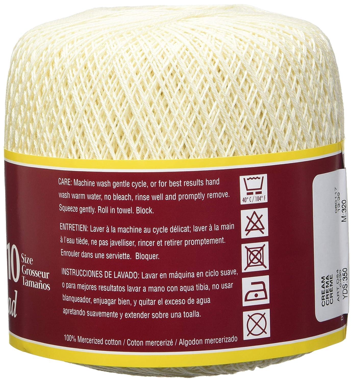 Amazon.com: Coats Crochet South Maid Crochet, Cotton Thread Size 10, Cream: Arts, Crafts & Sewing