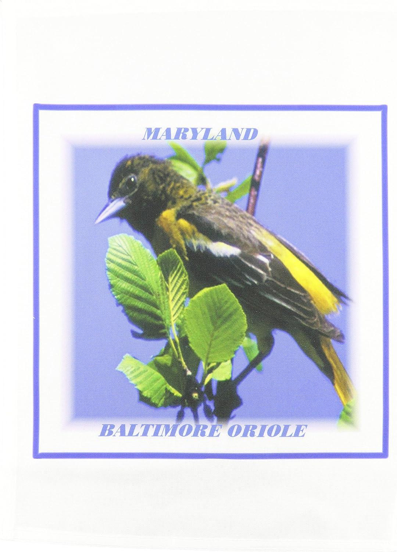 3dRose fl_50906_1 Maryland State Bird Baltimore Oriole Garden Flag, 12 by 18-Inch