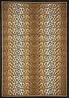 Home Dynamix Zone 7117 502 Ebony 2 Feet By 3 Feet Leopard Area Rug