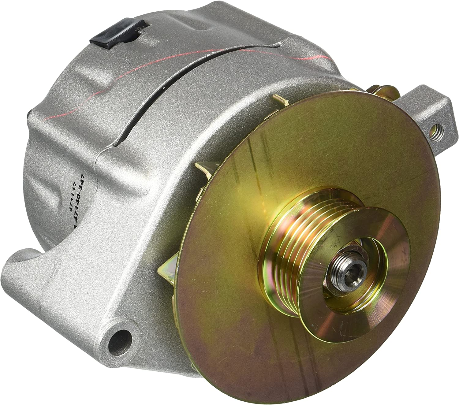 Powermaster Performance 8-47140-347 Natural Alternator Upgrade 150A Smooth Look 6 Groove Pulley /& Baffle /& Cone 1 Wire
