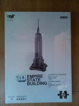 PUZZLE 3D EMPIRE STATE BUILDING / ALE-HOP: Amazon.es ...