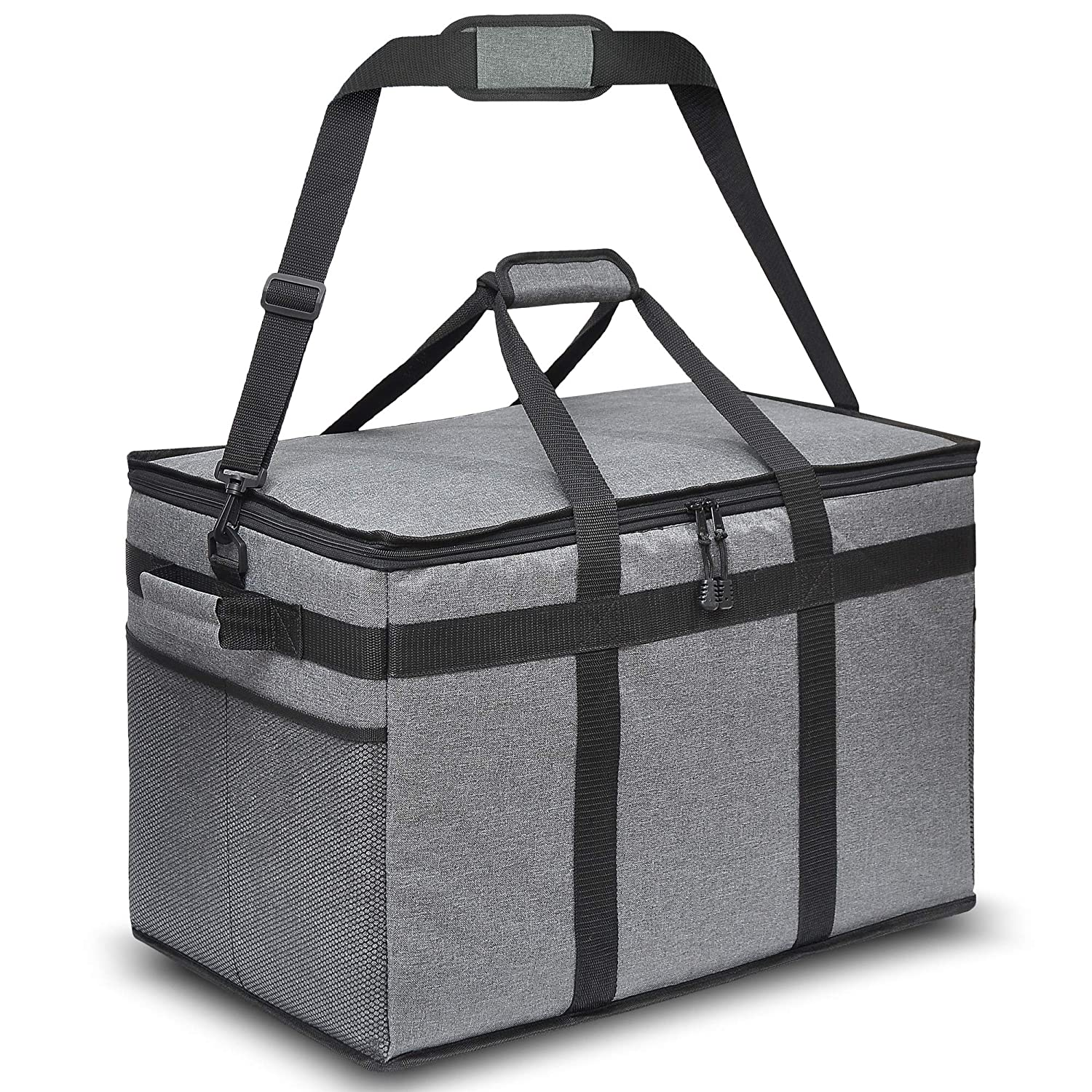 The HOT Box Insulated Food Delivery Bag - Premium Quality Bag for Hot and Cold Food for Uber Eats DoorDash Instacart Postmates Groceries Restaurants - XXL Sized Excellent for Catering - 23