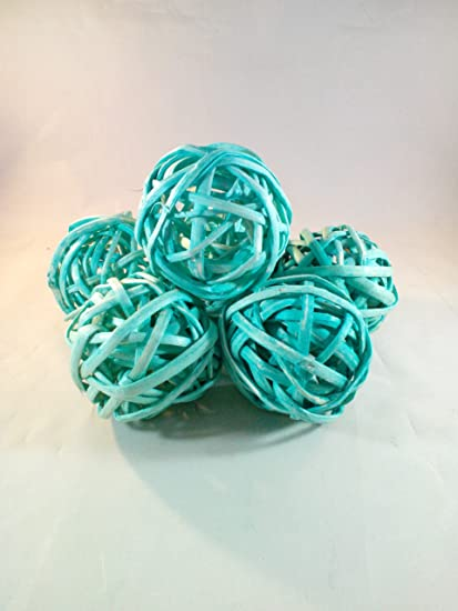 Amazon Decorative Spheres Aqua Blue Rattan Vase Filler Ornament Magnificent Rattan Decorative Balls
