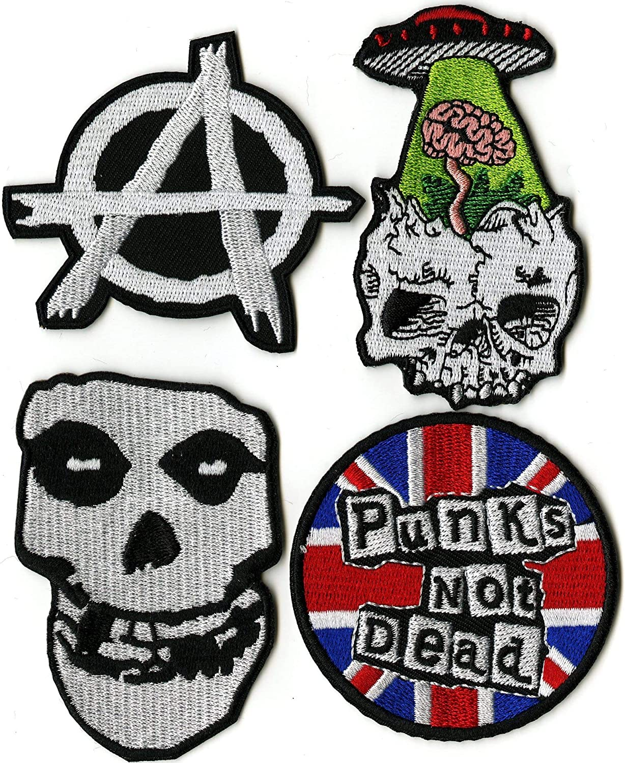 by Nixon Thread Co. SUBHUMANZ The Vandals Misfits Anarchy Dead Kennedys Small Embroidered Band Patches 14 pc Punks Not Dead Patch Set AFI Metal Skull