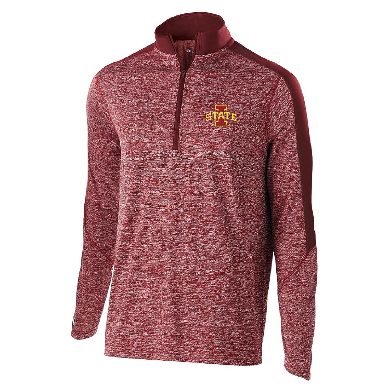 Cardinal Heather//Cardinal 2X Ouray Sportswear NCAA Iowa State Cyclones Electrify 1//2 Zip Pullover
