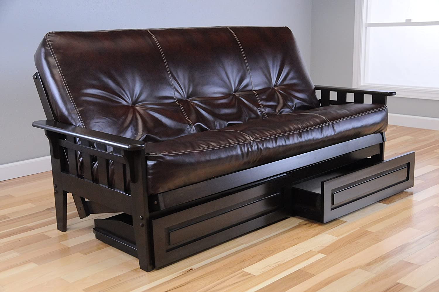 Futon With Storage Drawers Home Decor