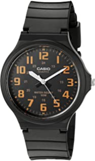 Casio Mens Easy To Read Quartz Black Casual Watch (Model: ...