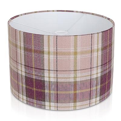 20,3cm (20cm) Berrydale Prune Tartan lampe de table/lampe de plafond