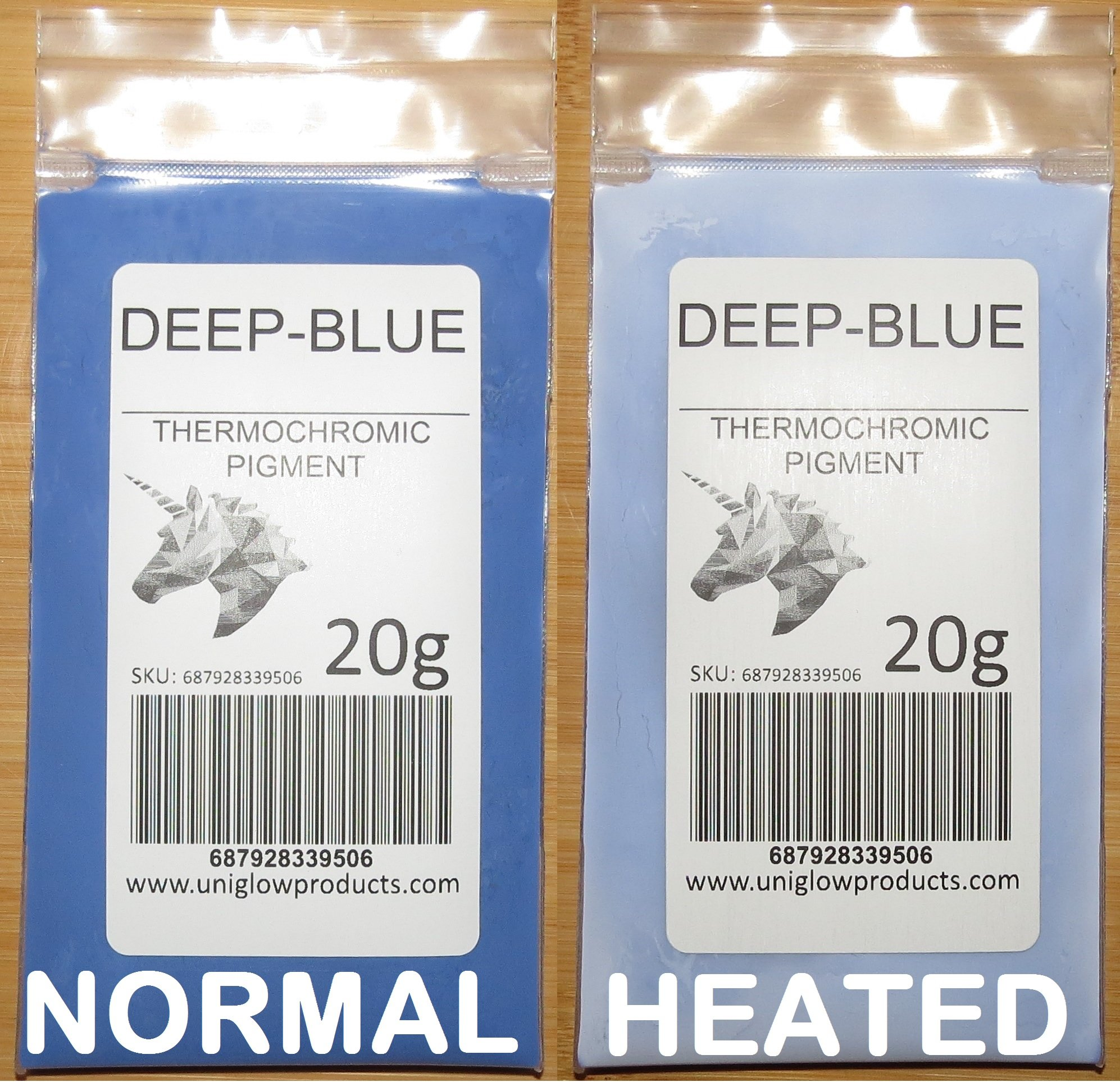 20g of Thermochromic Temperature Activated Pigment - Deep Blue. Multiple Colors - Heat Sensitive Color Changing Powder for Paint, Nail Polish, Ink, Screen Printing, Fabric Art, Ceramics, and More