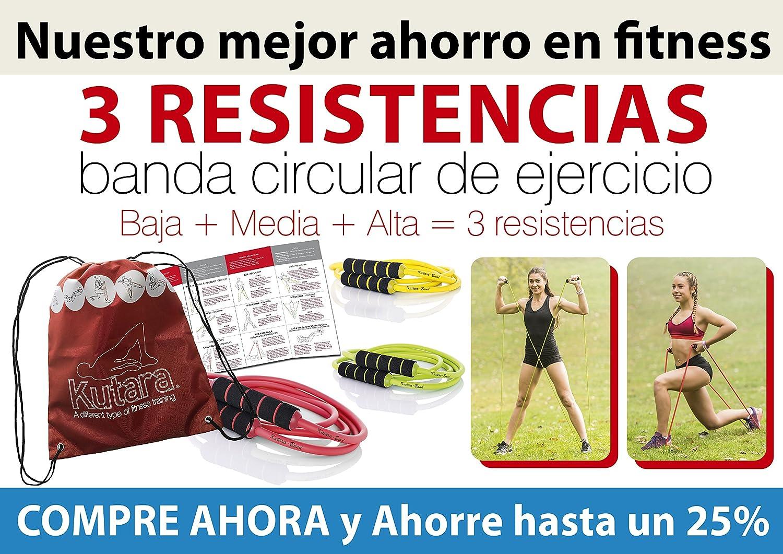 PACK - 3 BANDAS DE RESISTENCIAS (Amarilla + Verde + Roja): Amazon.es: Deportes y aire libre