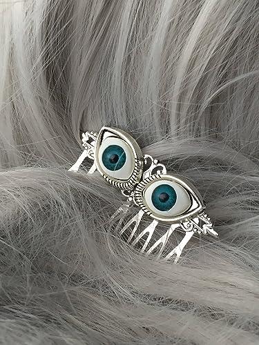 eyeball halloween hair accessories by arcanum by aerrowae halloween costume hair comb
