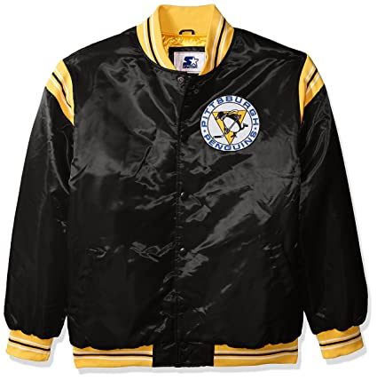 STARTER NHL Pittsburgh Penguins Men s The Enforcer Retro Satin Jacket 0bf0e33dd