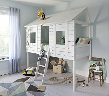 Noa And Nani Christopher Treehouse Midsleeper Cabin Bed White