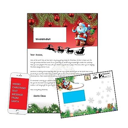 Carta de Papá Noel - personalizable en un sobre Festive ...