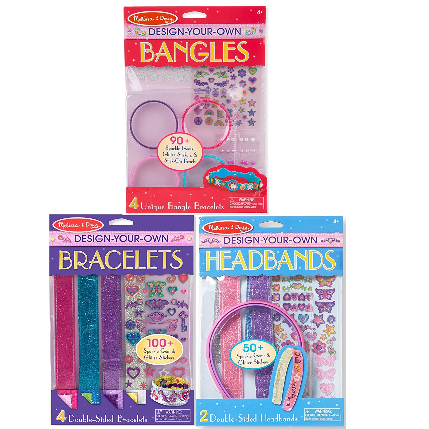 Melissa /& Doug Design-Your-Own Jewelry-Making Kits Headbands and Bracelets 8108 Bangles