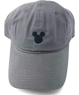 6b37561fe Disney Adult Mickey Mouse Silhouette Grey Baseball Cap Hat