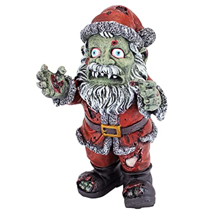 Only One Door Left On My Demented Santa >> Amazon Com Christmas Decorations Zombie Santa Claus Holiday