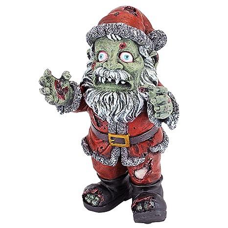 Christmas Zombie Santa.Christmas Decorations Zombie Santa Claus Holiday Decor Zombie Apocalypse Statue