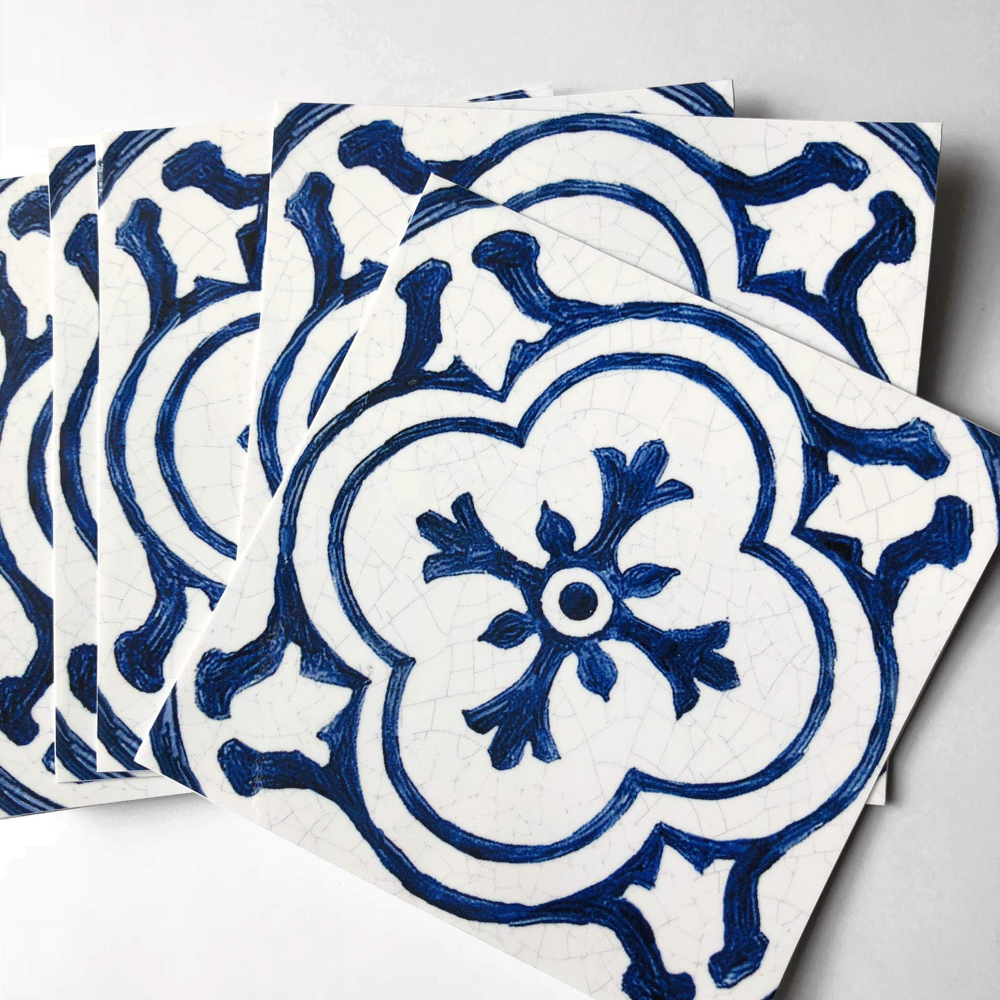 SnazzyDecal Tile Stickers Antique Dutch 40pc 4-1/4in Peel and Stick for Kitchen and Bath BW002-4Q by SnazzyDecal (Image #3)