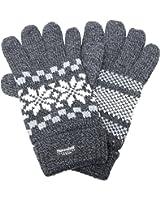 雪柄(スノー) 紳士ニット手袋