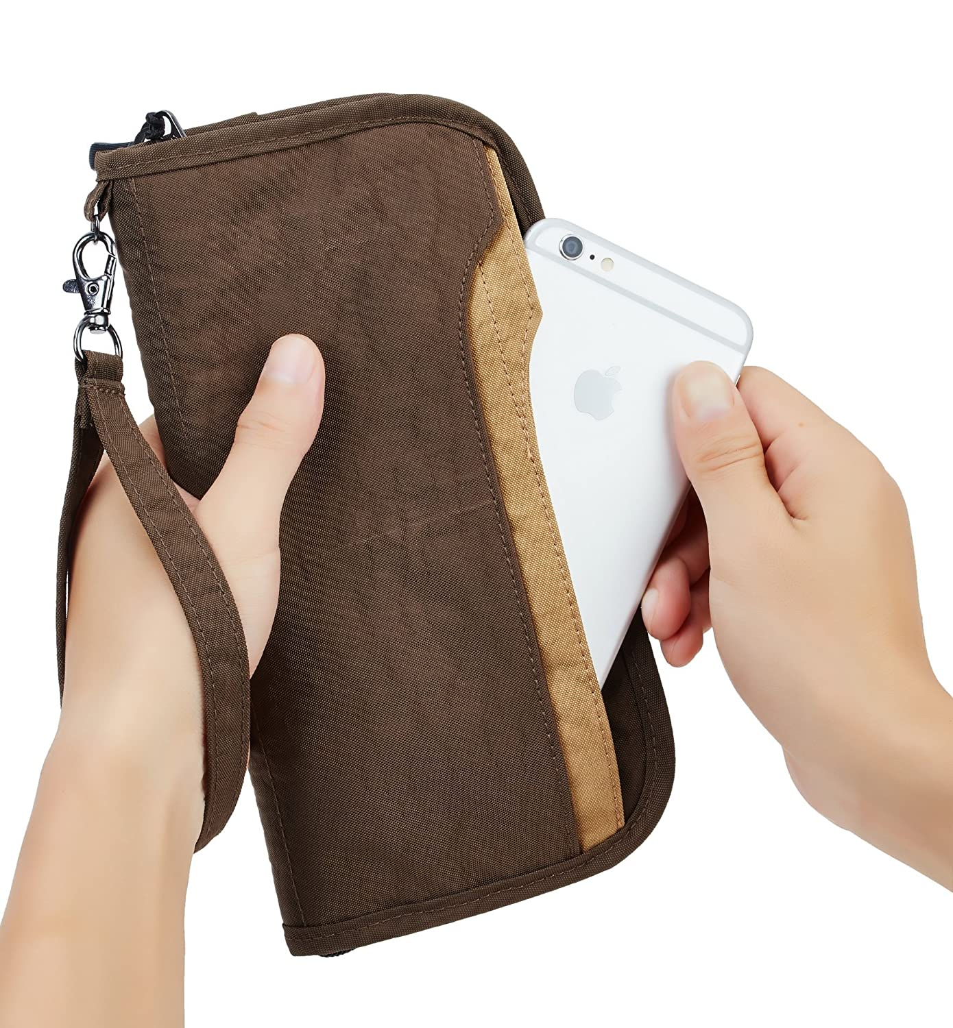 Travelambo Travel Wallet Passport Holder Wallet RFID Blocking Credit Card Holders for Men /& Women tra2302