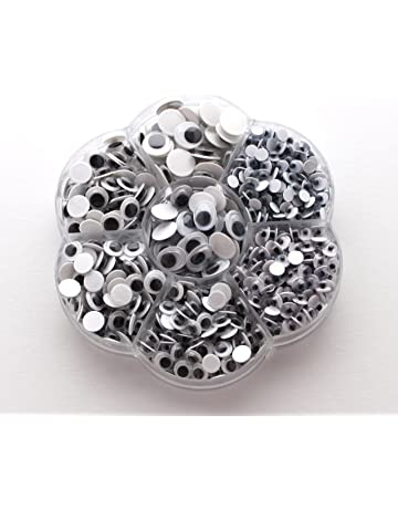 100Pcs 5mm//6mm//7mm Round Googly Eyes For Toys Bear Dolls Decor Accessories BR