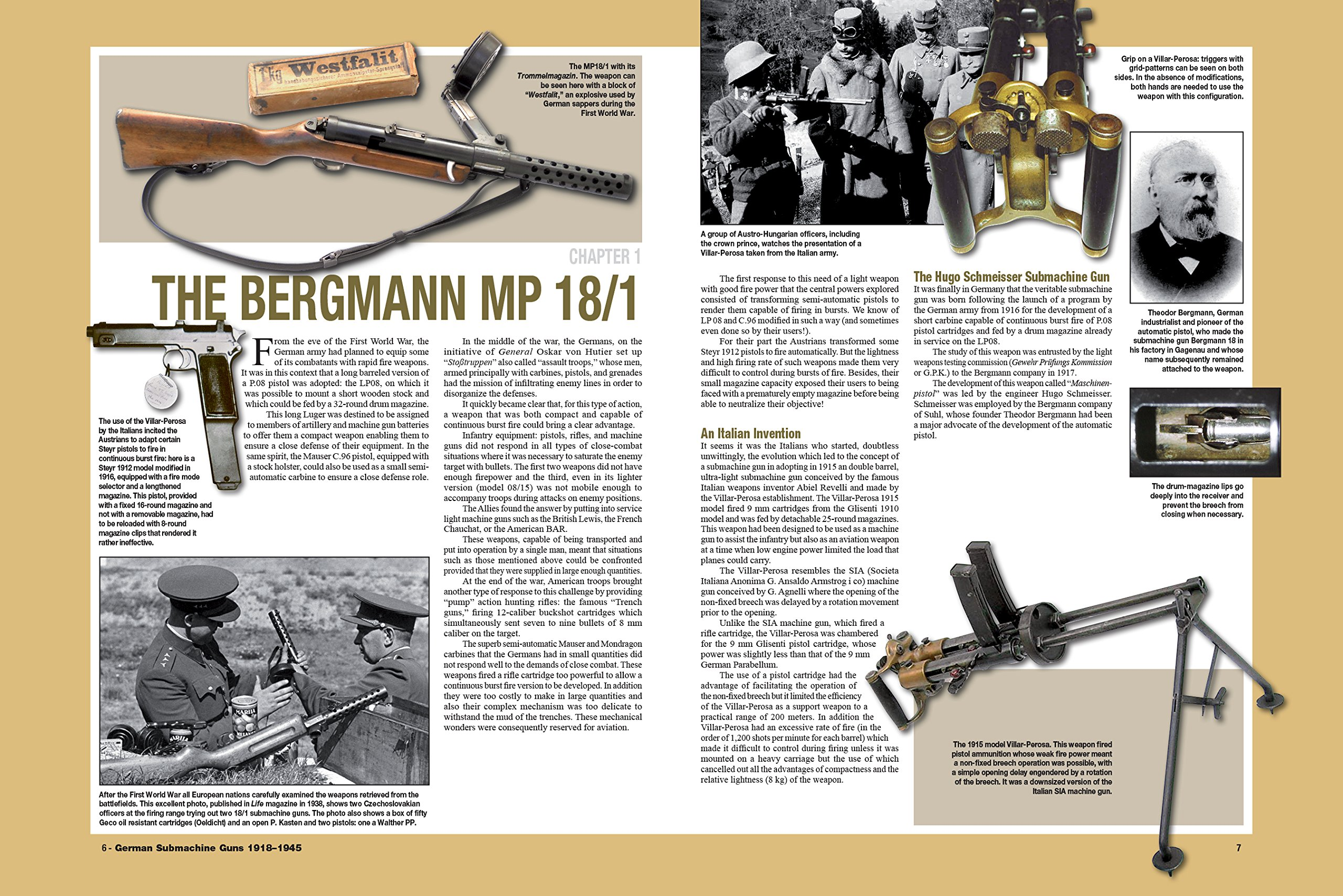MP34 MKB4... MP41 German Submachine Guns 1918-1945 : Bergmann MP18//I MP38//40