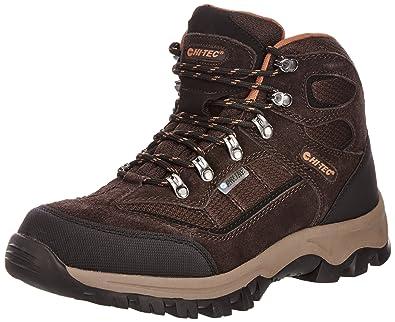 HITEC HILLSIDE WP Mens Waterproof Hiking Boots 13 UK Chocolate/