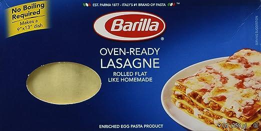 Pasta Lasaña Lista Para El Horno Barilla: Amazon.com ...
