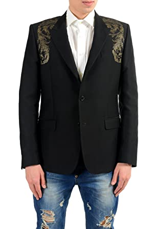 cb4142e3f7f6 Image Unavailable. Image not available for. Color  Versace Collection Men s  Silk Detailed Blazer Sport Coat Size US 44 IT 54